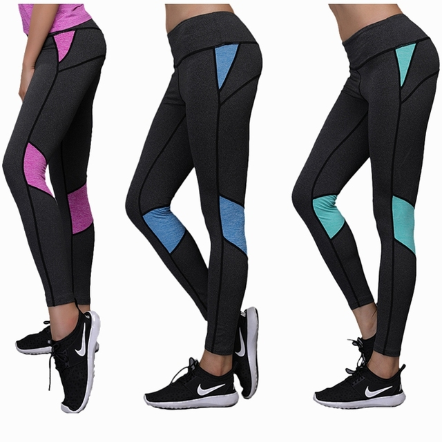 95851f44228ab6 Women Yoga Pants High Elastic Tight Compression Gym Jogging pants Workout  Leggings Sport Running Sportswear fitness Trousers