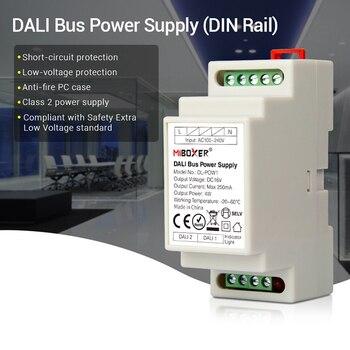 DL-POW1 DIN Rail Dali Bus Power Supply DC16V 4W Max250mA LED Transformer untuk AC 110V 220V Dali RGB CCT LED Downlight