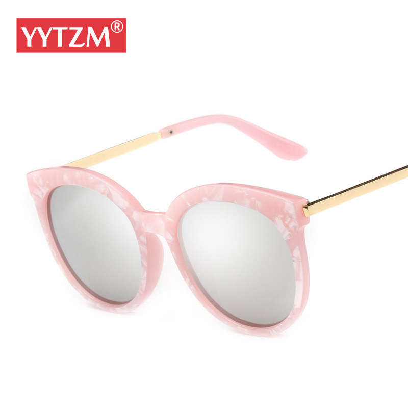 8176cd907bd16 YYTZM Glasses Polarizde UV400 Round Oval Classic Women Coating lens  sunglasses cute oculos de sol eyeglasses wholesale eyewear