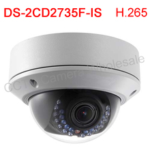 Multi language DS-2CD2735F-IS replace DS-2CD2732F-IS H.265 3MP IP67 POE Network IR Dome Camera with 30 IR,video