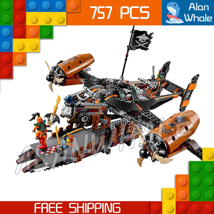 757pcs Ninja Misfortunes Keep Pirate Flyer Airship Escape Boat 10462 Figure Building Blocks Kid Toy  Compatible With LegoING757pcs Ninja Misfortunes Keep Pirate Flyer Airship Escape Boat 10462 Figure Building Blocks Kid Toy  Compatible With LegoING