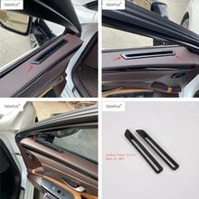 Lapetus Accessories For Lexus ES 2018 2019 Inside Door Air Conditioning AC Outlet Vent Frame Molding Cover Kit Trim 2 Pcs / ABS lapetus accessories for peugeot 5008 gt 2017 2018 abs rear armrest box air conditioning ac vent outlet molding cover kit trim