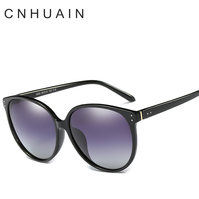 cnhuain womens glasses polarized sunglasses female brand designer large frame vintage sun