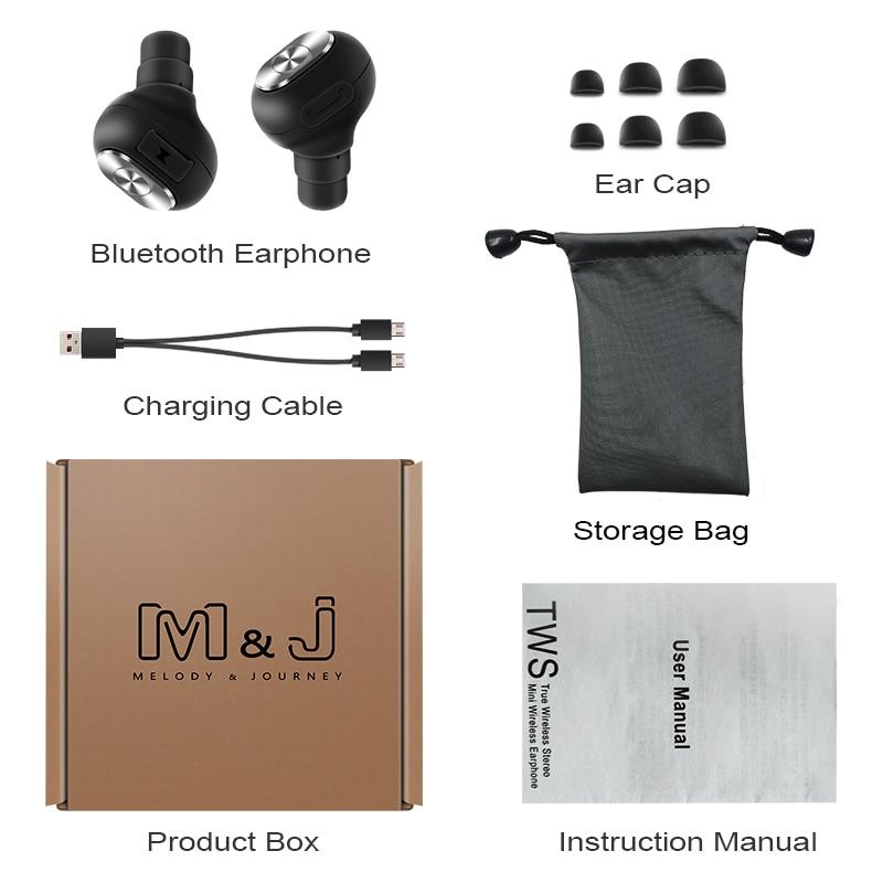 M&J Capsule Wireless TWS Earbuds Bluetooth Earphone With Mic And Deep Bass 13