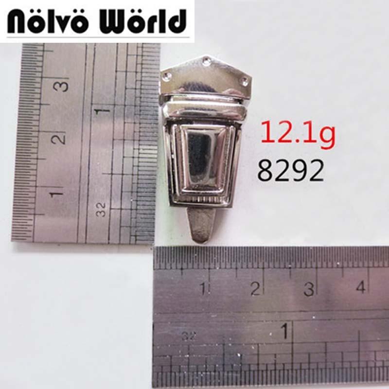 ee4167b2a741c 10 قطع النيكل لهجة حجم صغير قفل محفظة التقط المشابك للإغلاق diy محفظة  messager حقيبة سبائك أقفال الجملة