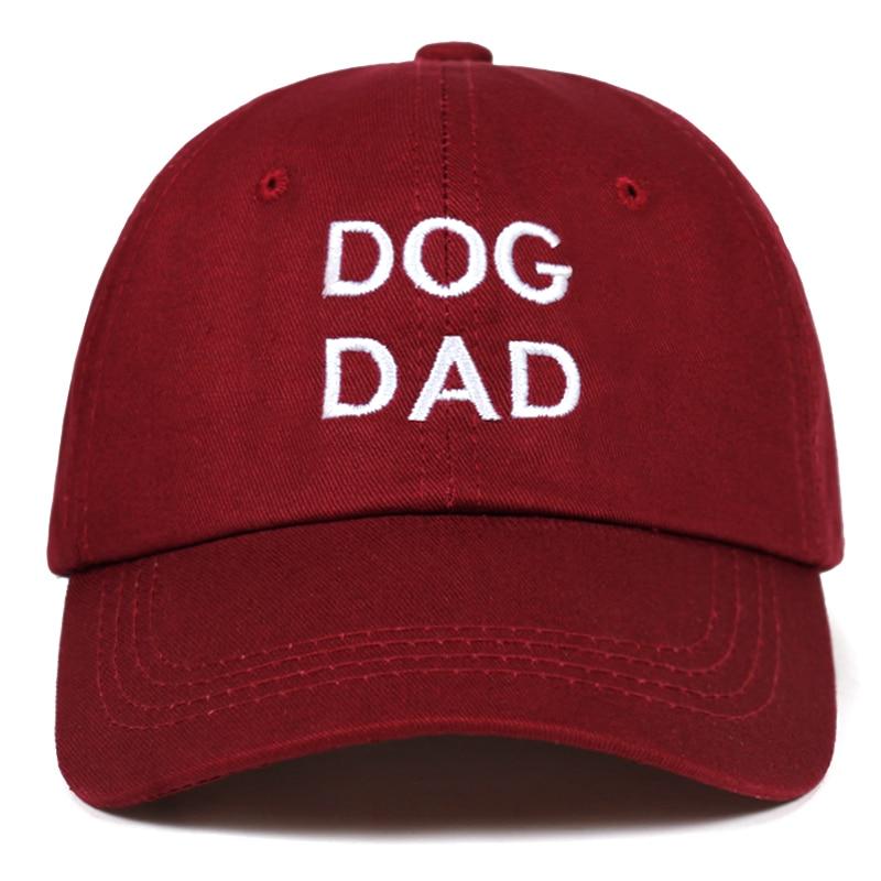 2018 Neue Hund Papa Brief Stickerei Kappe 100% Baumwolle Baseball Cap Für Männer Frauen Hip Hop Papa Hut Mode Snapback Hüte