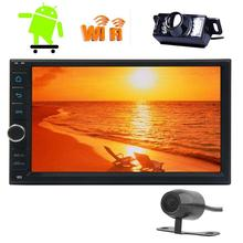 Android 6.0 Universal Multi-touch Screen Car Stereo NO DVD CD 1080P HD Video GPS Navigation Wifi USB SD FREE Front/Backup Camera