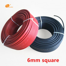1M 6.0mm2 10AWG Solar Cable Black or Red TUV & UL Approval Power for MC4/MC3