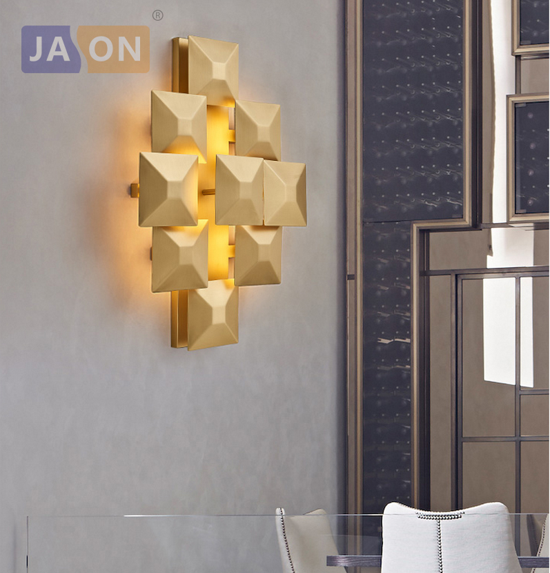 LED Nordic Alloy Designer Lamp Light Wall lamp Sconce For Bar Store Foyer Bedroom