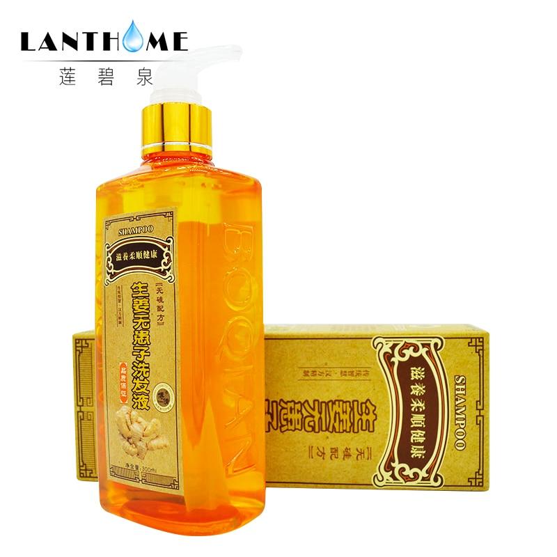 300 ml Ginger Capelli Shampoo Calvizie Anti Perdita di Capelli Forfora Nero Shampoo Per Capelli Professionale Crescere di Spessore Prodotti di Crescita Dei Capelli