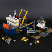 City Series LEPIN 02012 Deep Sea Exploration Vessel Children Educational Building Blocks Bricks Toy Model 60095 Funny Boys Gift