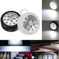 Portable Lantern Black / White Lamp 15 LED Wireless Auto PIR Sensitive Motion Infrared Sensor Night Light