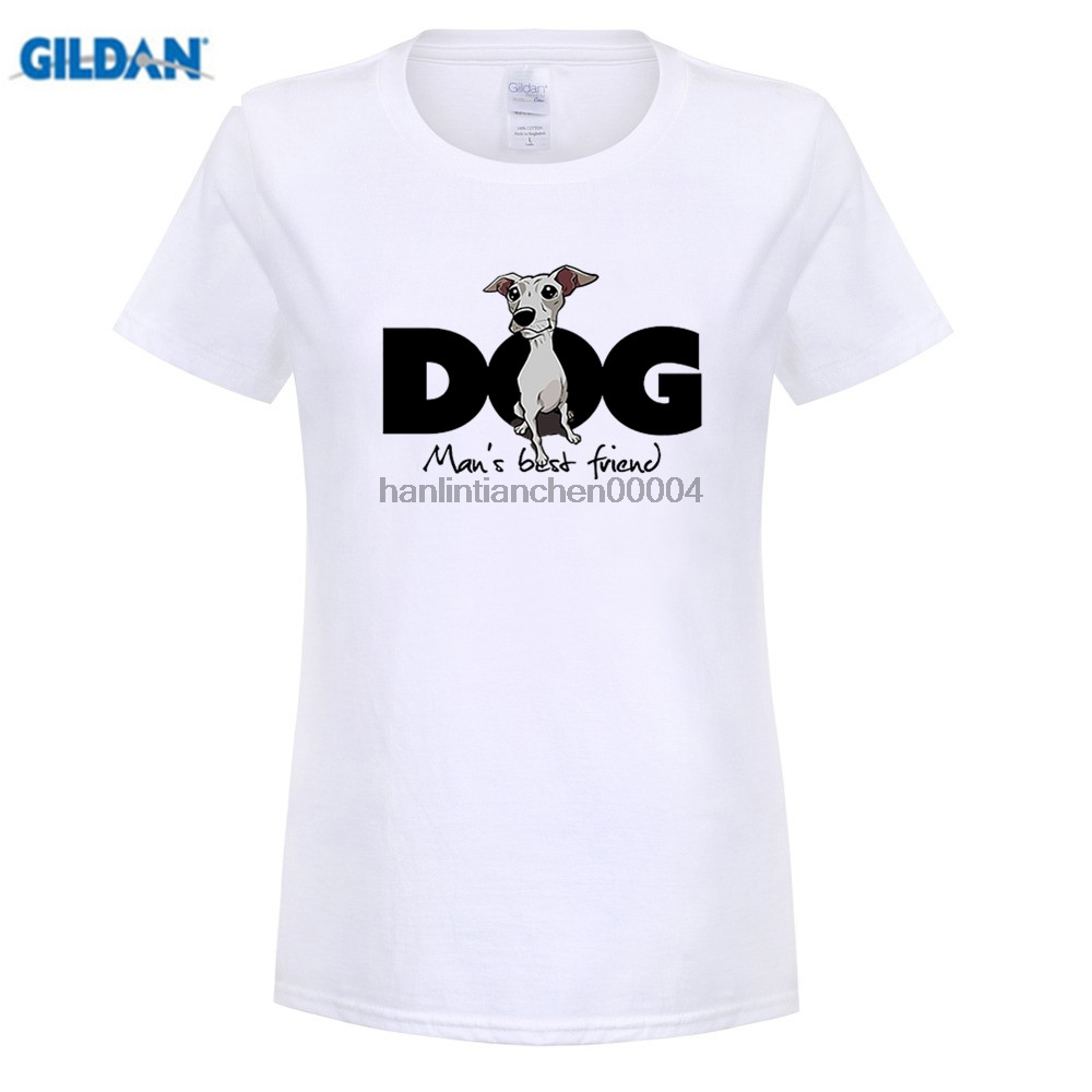 GILDAN Italian Greyhound T Shirts Cartoon women womans Tops Tees Short Sleeve Custom Designed Online High Quality T-Shirts