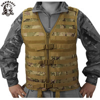 New Molle Modular Vest with Hidden Mesh Hydration Pocket Outdoor Tactical Vest Modular Chest Set Army Military Hunting Vest
