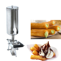 5L Stainless Steel Jam Filler Puff Filling Machine Churros Stuffer Fried Bread Stick Filling Machine NP 25