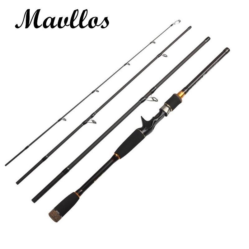 Mavllos Fast Action 4 Section Portable Fishing Casting Spinning Rod 2.1m 2.4m 2.7m Light Carbon Travel Lure 4sec Fishing Rods