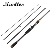 Cheapest prices Mavllos Fast Action 4Section Portable Fishing Rod Spinning Casting Rod 2.1m 2.4m 2.7m Carbon Fiber Telescopic Fishing Travel Rod