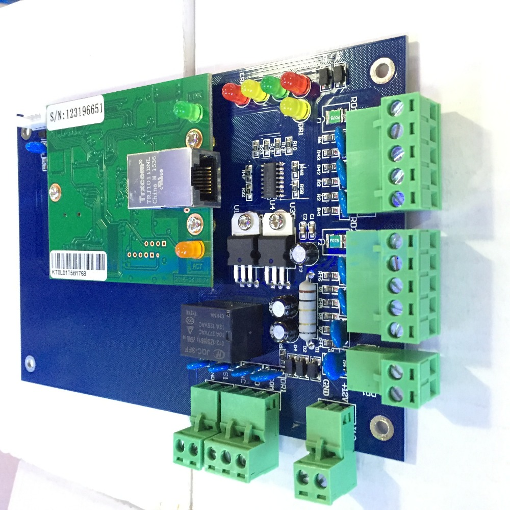 ФОТО Wiegand TCP/IP Network Access Control Board Panel Controller For 1 Door 2 Reader