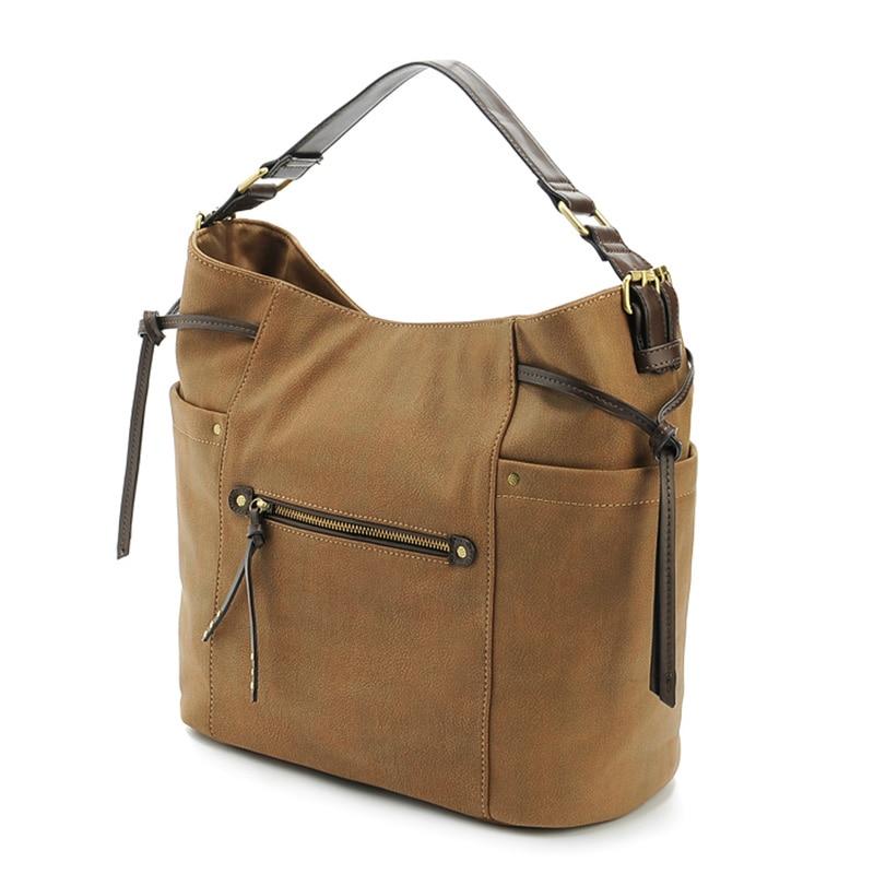 PU leather women handbags fashion tote bag female new sale rivet shoulder bags big size