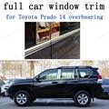 Автомобильные Внешние аксессуары из нержавеющей стали  полное окно  отделка для Toyota Prado 2014  накладной подшипник с центральным столбом