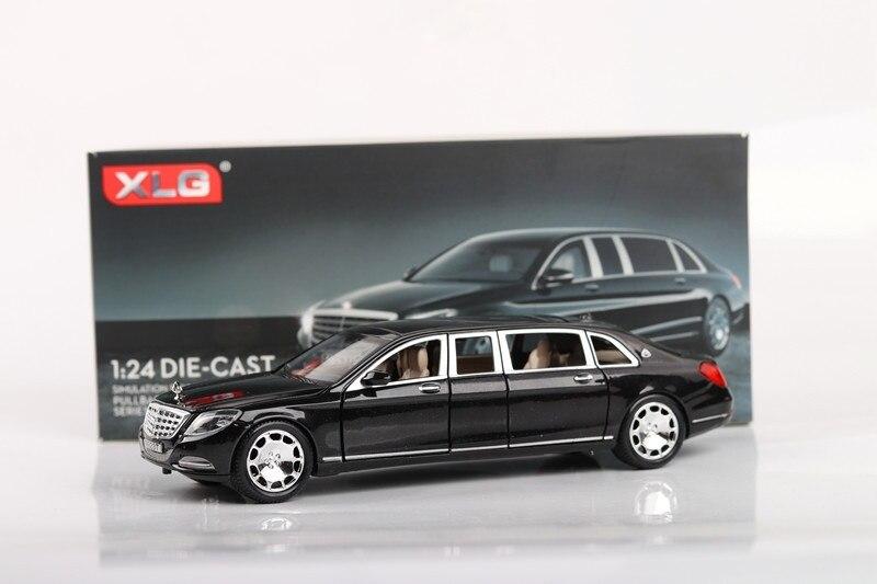 1/24 Maybach s600 Limousine Étendu Modèle De Voiture moulé sous pression Véhicule Exquis Collection avec la boîte