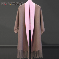 Tassel Long Cardigan Female 2017 Autumn New Tricot Sweater Women Knitted Cape Poncho Women Winter Tops