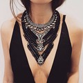 Fashion ZA Necklaces Pendants Women 2016 Chunky Collier Femme Collares Choker Jewelry Bib Boho Maxi Big Statement Silver Gold
