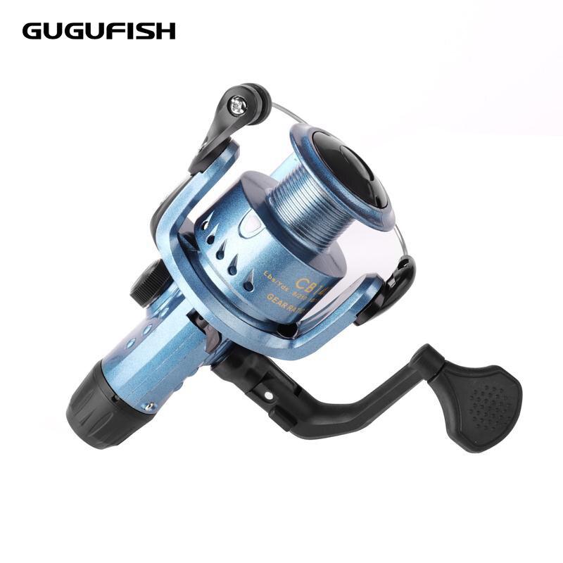 GUGUFISH Carretilhas de Pesca roda de Fiar roda de Metal Carretel mão Direita e esquerda intercambiáveis Longa Distância de Arremesso