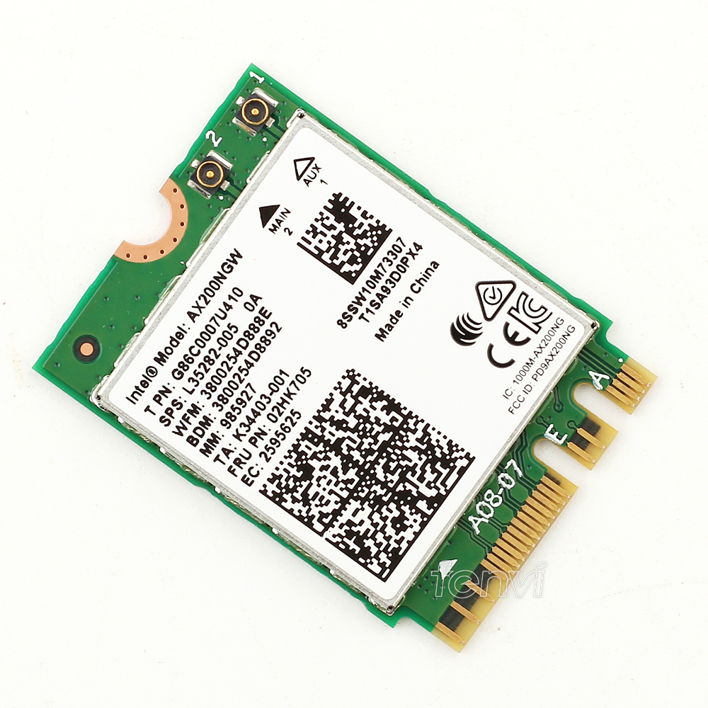 Image 4 - Dual band 802.11ax For WIfi 6  Intel AX200 NGFF Wifi Wireless Card AX200NGW MU MIMO 5Ghz Up to 2.4Gbps Wifi+BT 5.0 With Antennas-in Network Cards from Computer & Office