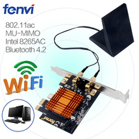 Dual Band Wireless AC Desktop PCI E Wifi Card 8265NGW 802 11a B G N Ac
