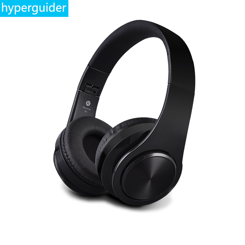 hyperguider Wireless Headphone Bluetooth 4.1 Headband support Micro SD Card TF and 3.5mm AUX for Meizu Xiaomi Huawei iPhone aj 81 wireless bluetooth v2 1 mp3 speaker w tf fm micro usb for iphone more black white