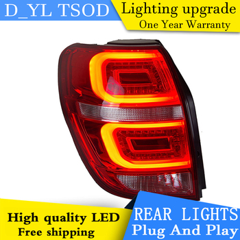 D_YL Car Styling for Chevrolet Captiva Tail Lights 2008-2015 Kaptiva LED Tail Light LED Rear Lamp DRL+Brake+Park+Signal