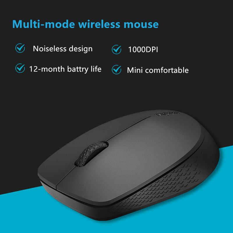 جديد Rapoo ماوس بصري لاسلكي صامت مع بلوتوث 3.0/4.0 RF 2.4G كتم الفئران الصغيرة صامتة لأجهزة الكمبيوتر ويندوز الكمبيوتر المحمول