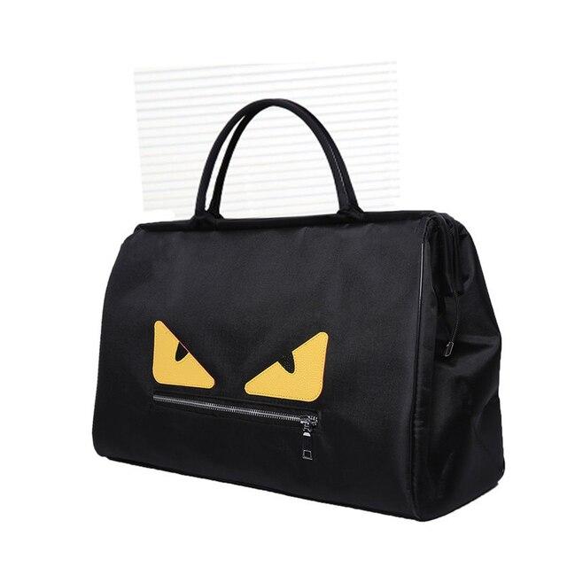 Women Nylon Handbags Black Female Shoulder Bags Patchwork Large Waterproof Travel  Duffle Top-Handle Bag Weekend Bag Luggage Tote 34be6ca48d6c6