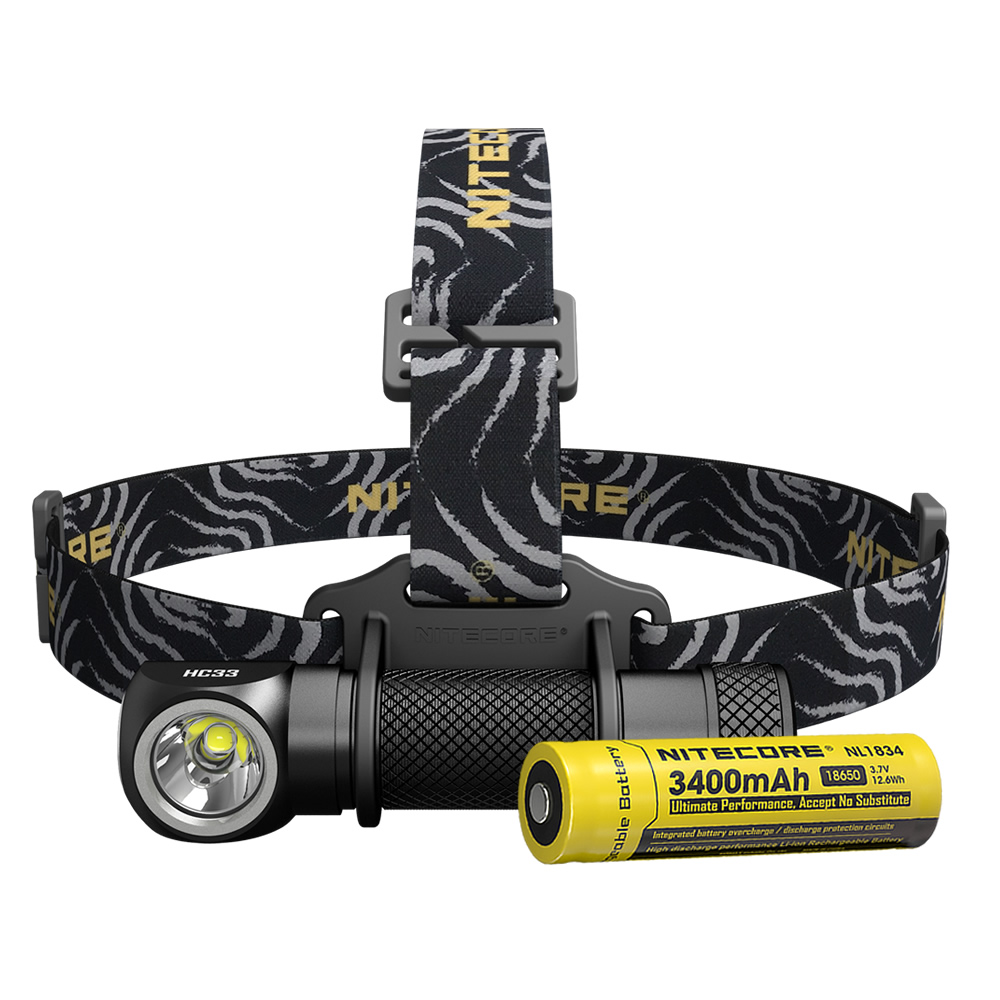 Free Shipping NITECORE HC33 1800Lumen Headlamp 18650 Rechargeable Battery Headlight Waterproof Flashlight Outdoor Camping Hiking
