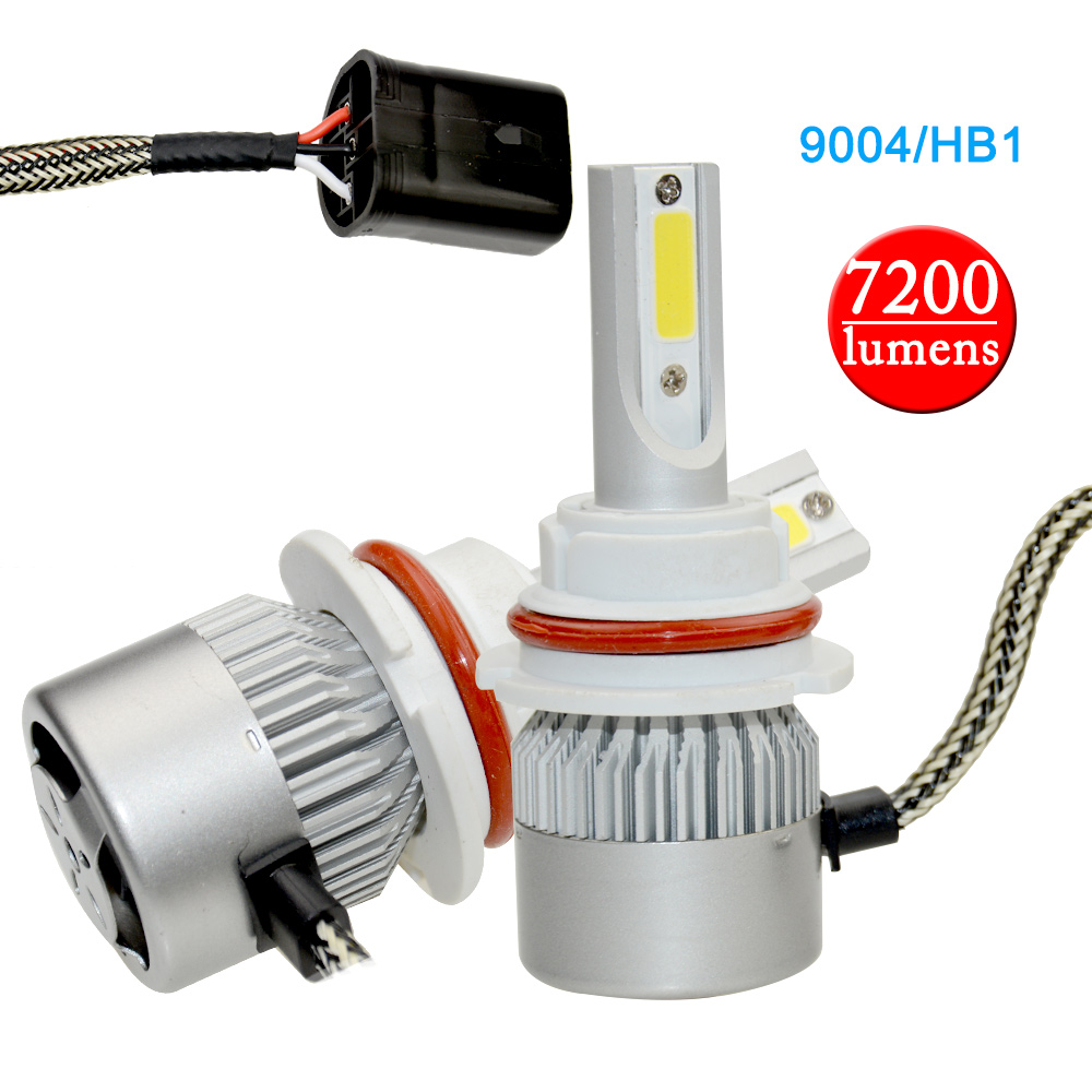 2 pieces Good Quality Led 9004 HB1 7200lm Driving car-styling 6000K Car Headlight Fog Li ...