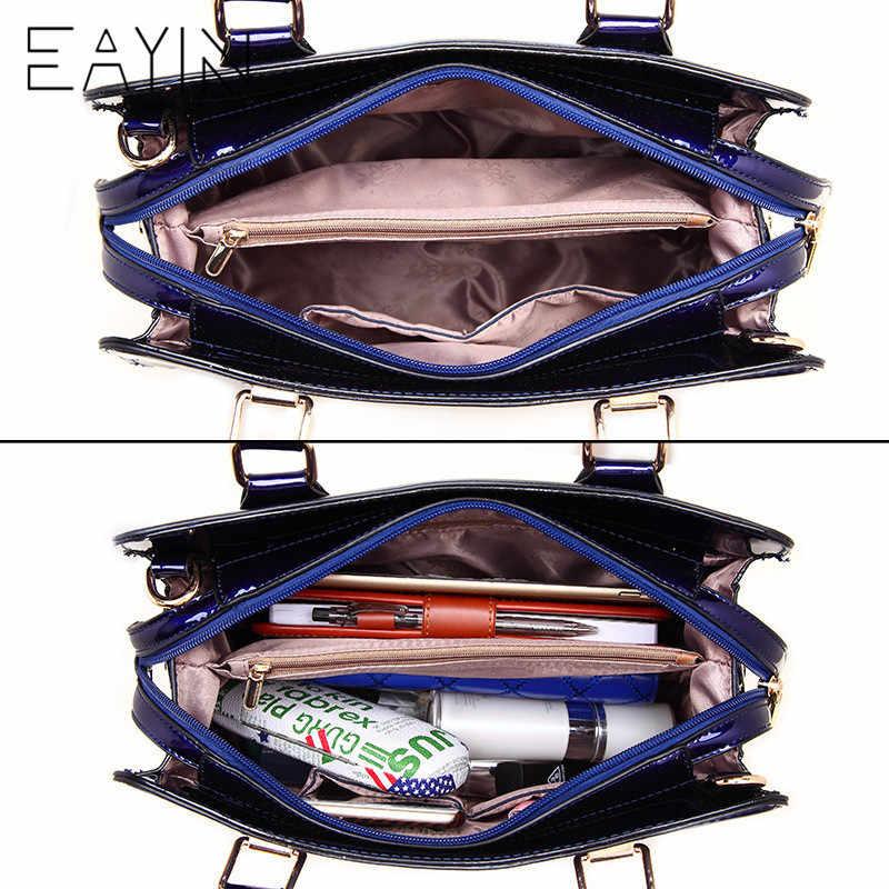 c8902c6894 ... EAYIN Luxury Designer Black Leather Tote Bag Handbags Sequin Flower Women  Famous Brand Lady s Lacquered Handbag ...