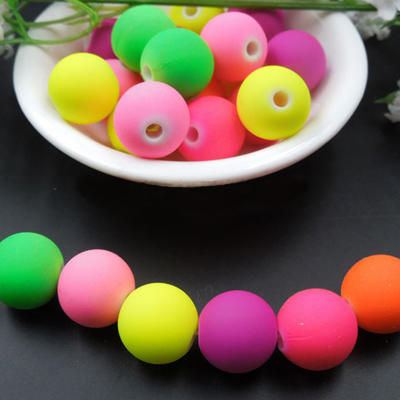 """0.24/"""" 500 Golden Metallic Acrylic Round Spacer Beads 6mm Smooth Ball Beads"""