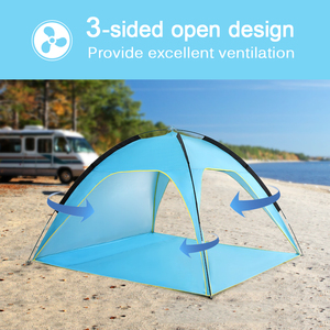 Image 5 - 軽量ビーチテント太陽シェードキャノピーuv太陽の避難所キャンプ釣りテントキャンプテント旅行ビーチテント屋外のキャンプ