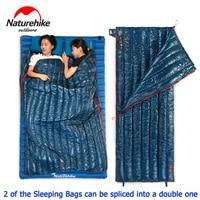 NatureHike Ultralight Envelope Sleeping Bag Warm Goose Down Camping Single Sleeping Bags Can Be Spliced Into