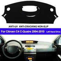 Tapis de tableau de bord de voiture pour citroën C4 C-Quatre 2004 2005 2006 2007 2008 2009 2010