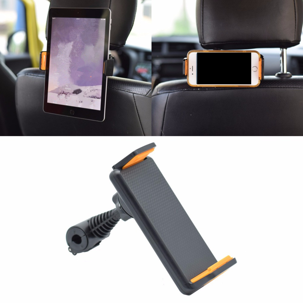 Universal 360 Degree Rotating Car Back Seat Headrest Mount Holder Stand for all Cell phone and Tablet 410 Inch