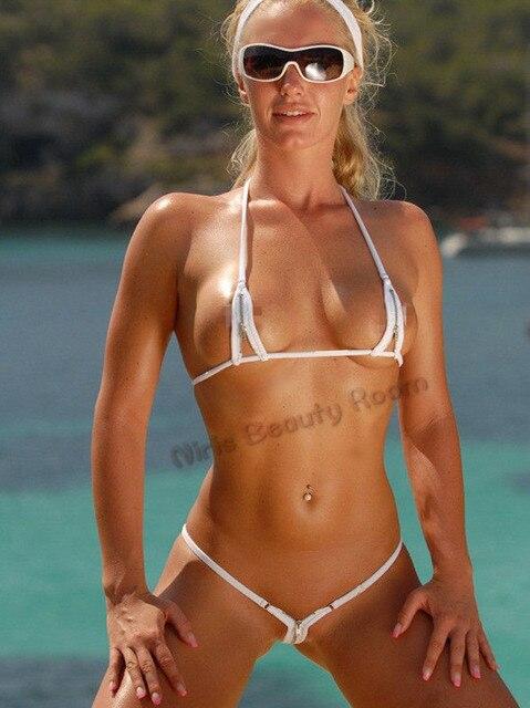 1d9804ee55eecf EXTREME HOT SEXY women zipper open crotch bandage mini micro exotic bikini swimwear  g-string thong underwear erotic lingerie set