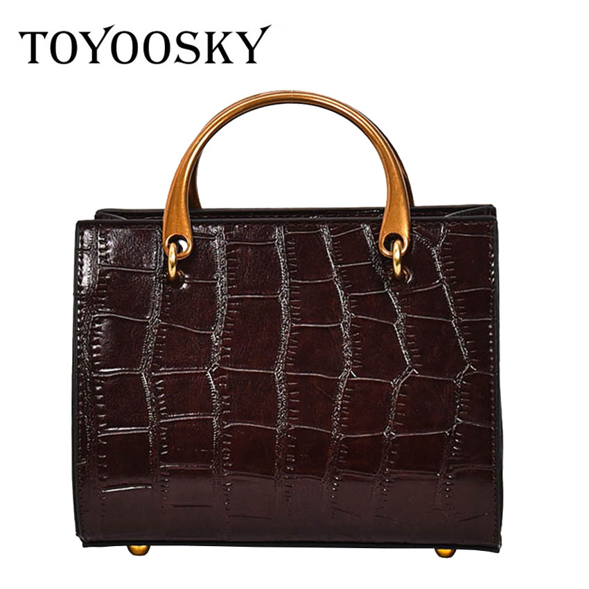 TOYOOSKY New Crocodile Pattern Women Bag High Quality Women Messenger Bags Crossbody Shoulder Bags Ladies Small Leather Handbags new stylish patent leather women messenger bags women handbags crocodile shoulder bags for woman clutch crossbody bag 6n07 06