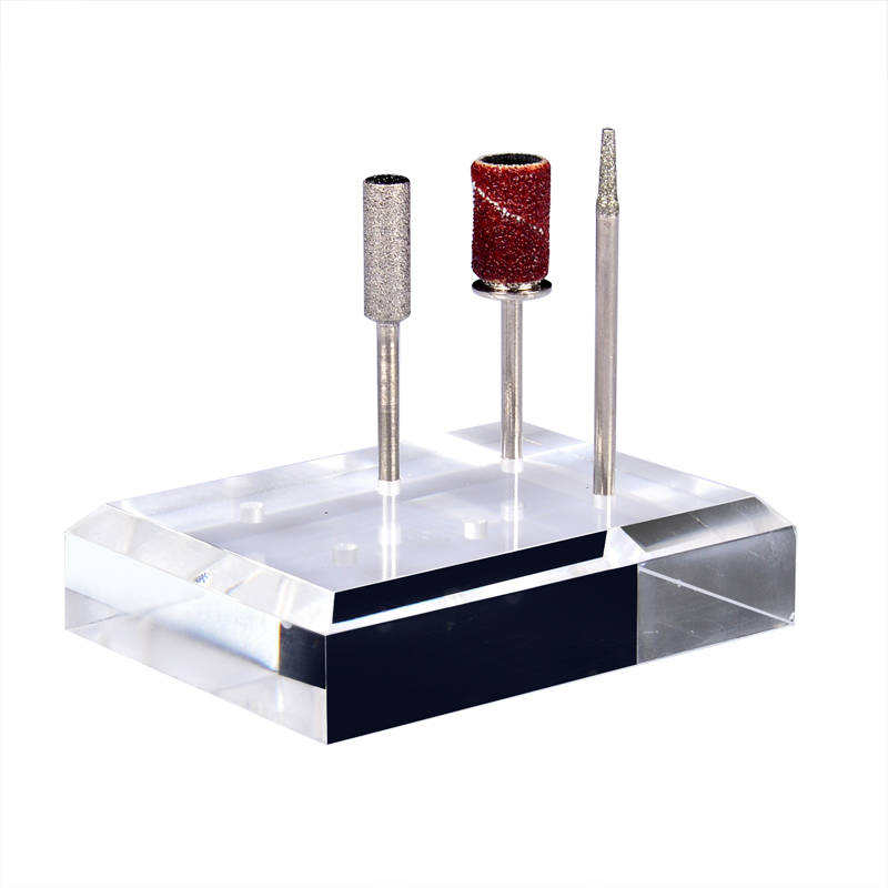 Nail Drill Bit Holder Case Display Stand With Cover Gel