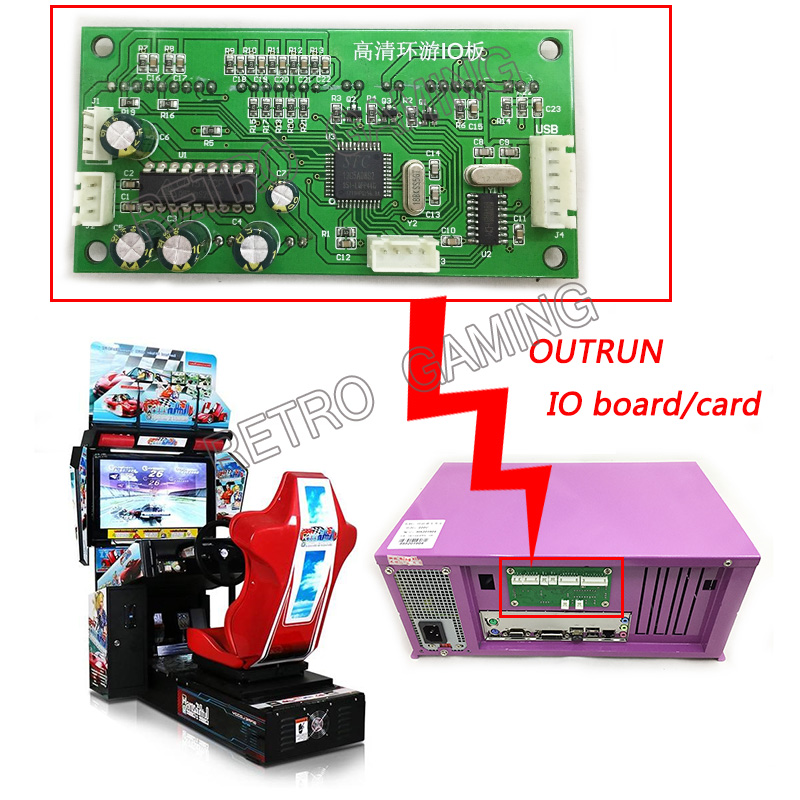 1pcs IO board for Arcade Outrun Driving Car Racing Simulator Game Motherboard Game Consol Machinee Kits image