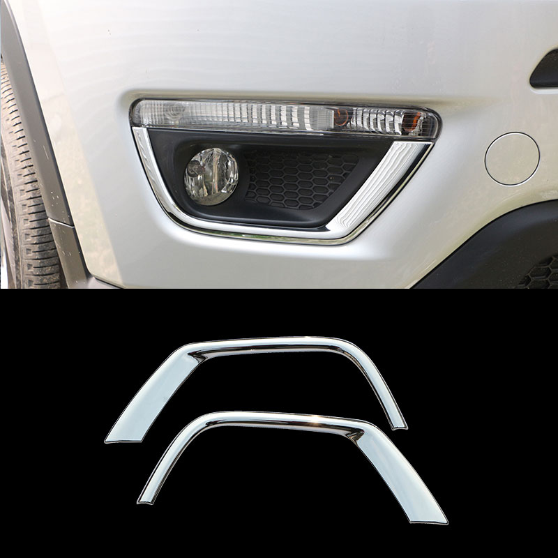Car Front Fog Lamps Protective Cover Rear Fog Lights Covers Sticker For Jeep Compass 2nd Generation 2017 2018 2019 Accessories