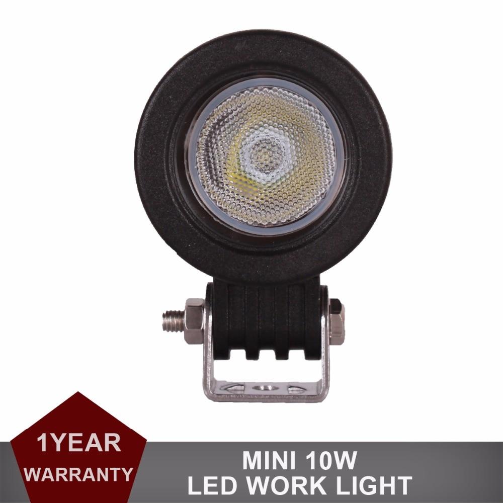 10 W LED Light Work Offroad 12 V 24 V De Voiture Auto Camion ATV moto Remorque Vélo 4X4 4WD Brouillard Lampe CREE LED Puces DRL phare