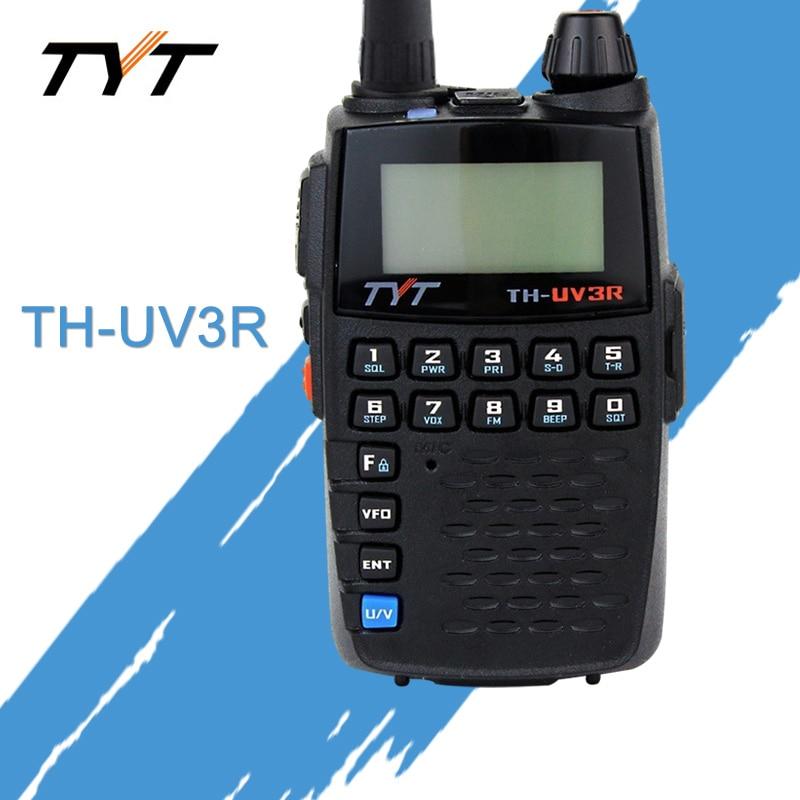 Aplicar para TYT TH-UV3R Mini Handheld Rádio Em Dois Sentidos VHF/UHF Amador HT Rádio USB Cobrando CTCSS/DCS Walkie Talkie Transceptor FM