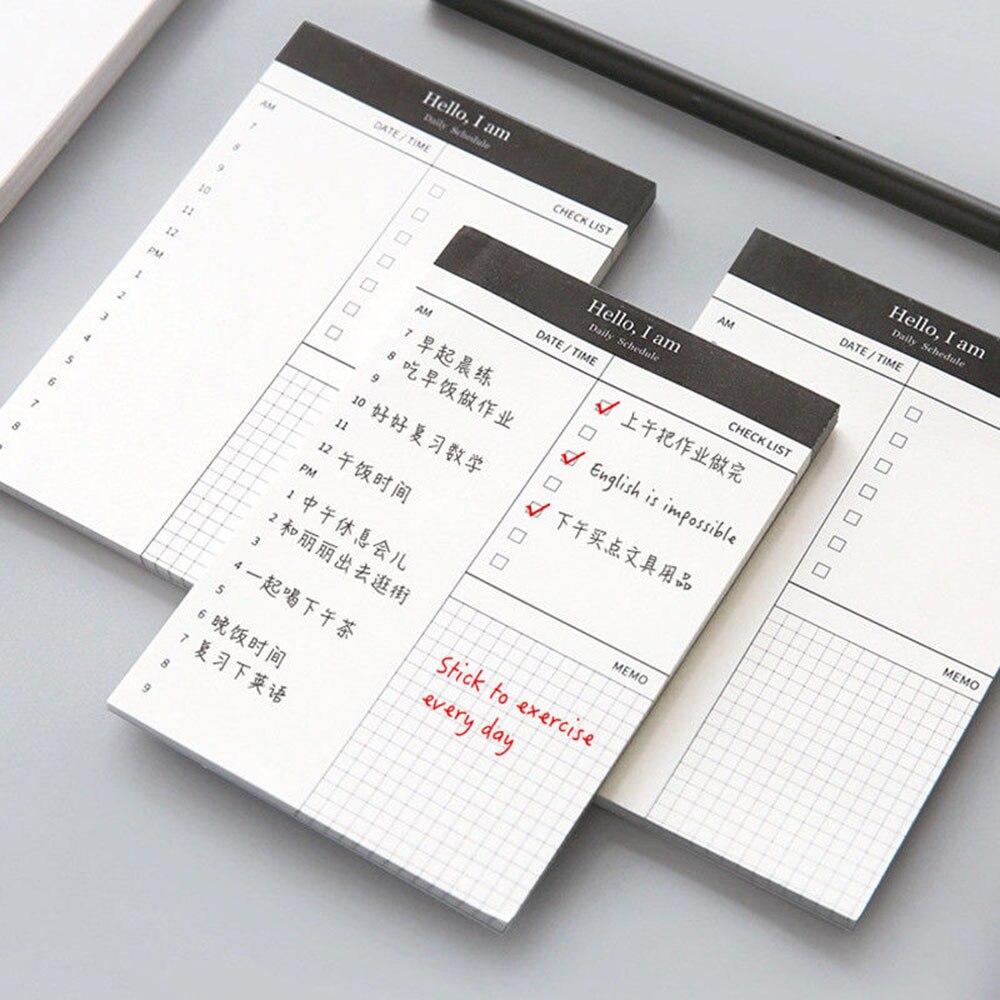 Mały papier notatnik terminarz biurko lista kontrolna notatnik Do zrobienia lista szkolne materiały biurowe